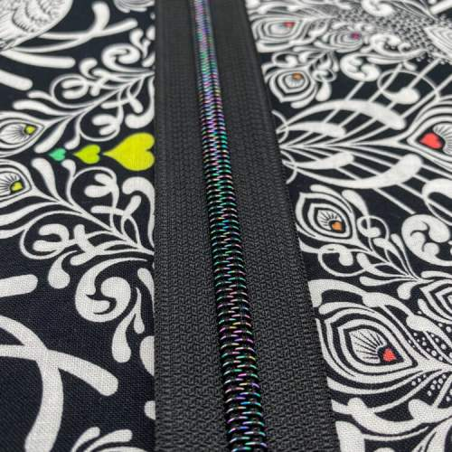 Black Galaxy Zipper Tape