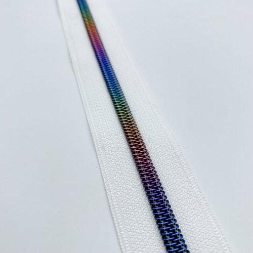 White Rainbow Zip Tape