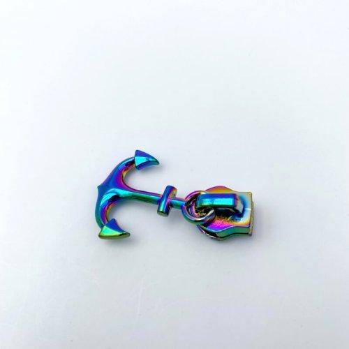 Anchor Zip Pulls Rainbow