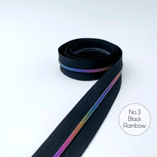 No.3 Black Rainbow Zipper Tape 1