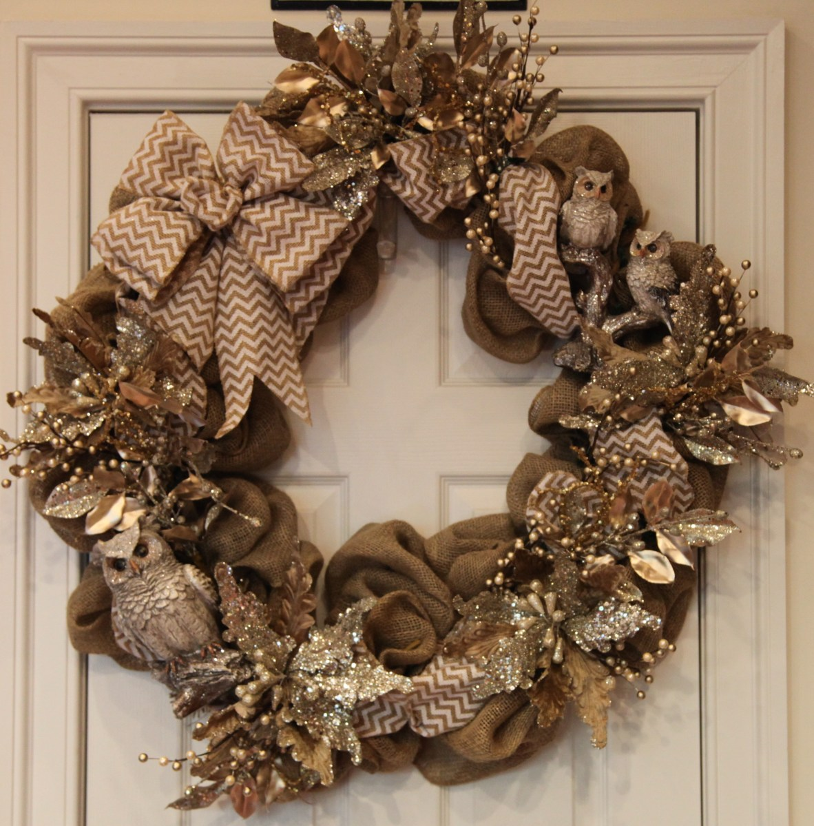 Burlap Woodlands Wreath for Winter   Country Craft