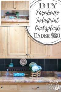 DIY Farmhouse Industrial Backsplash - Country Design Style