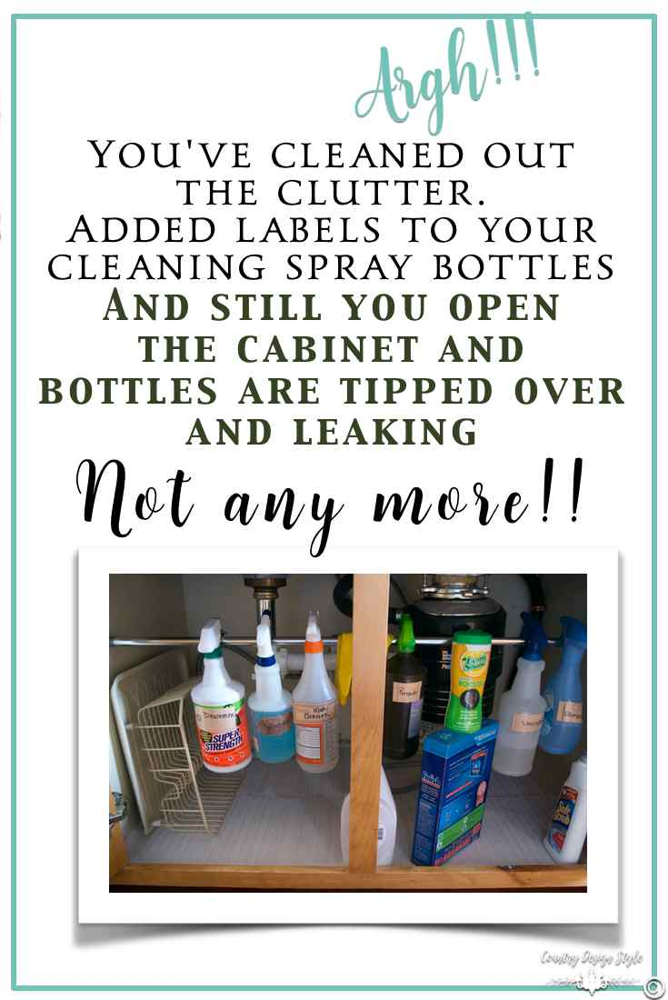kitchen cabinet cleaner recipe low cost sinks under the sink organization idea - country design style