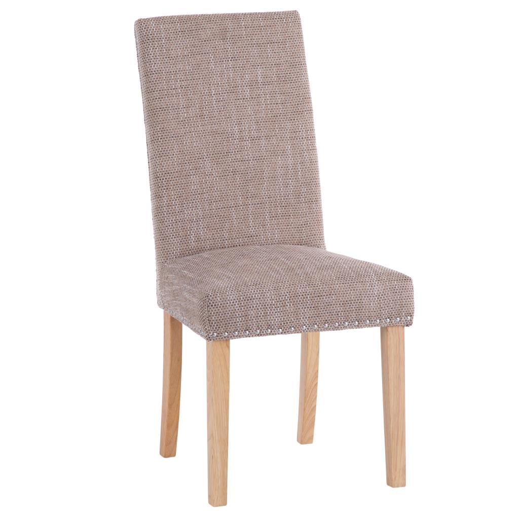Studded Dining Chairs Ki Studded Tweed Dining Chair
