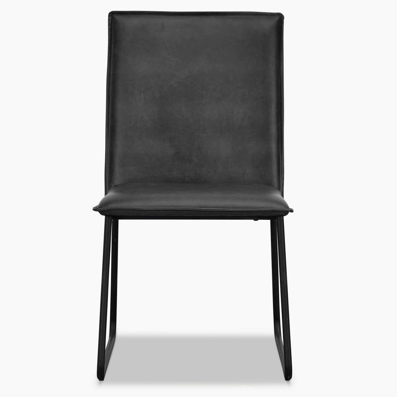 Black Leather Dining Chairs Ow Kingswood Black Leather Dining Chair