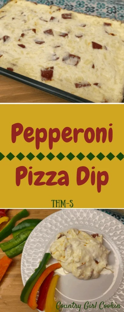 Pepperoni Pizza Dip (THM-S, Low Carb)