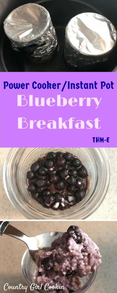 Power Cooker/Instant Pot Blueberry Breakfast (THM-E)
