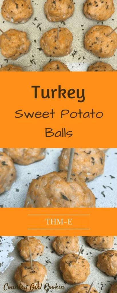 Turkey Sweet Potato Balls (THM-E)