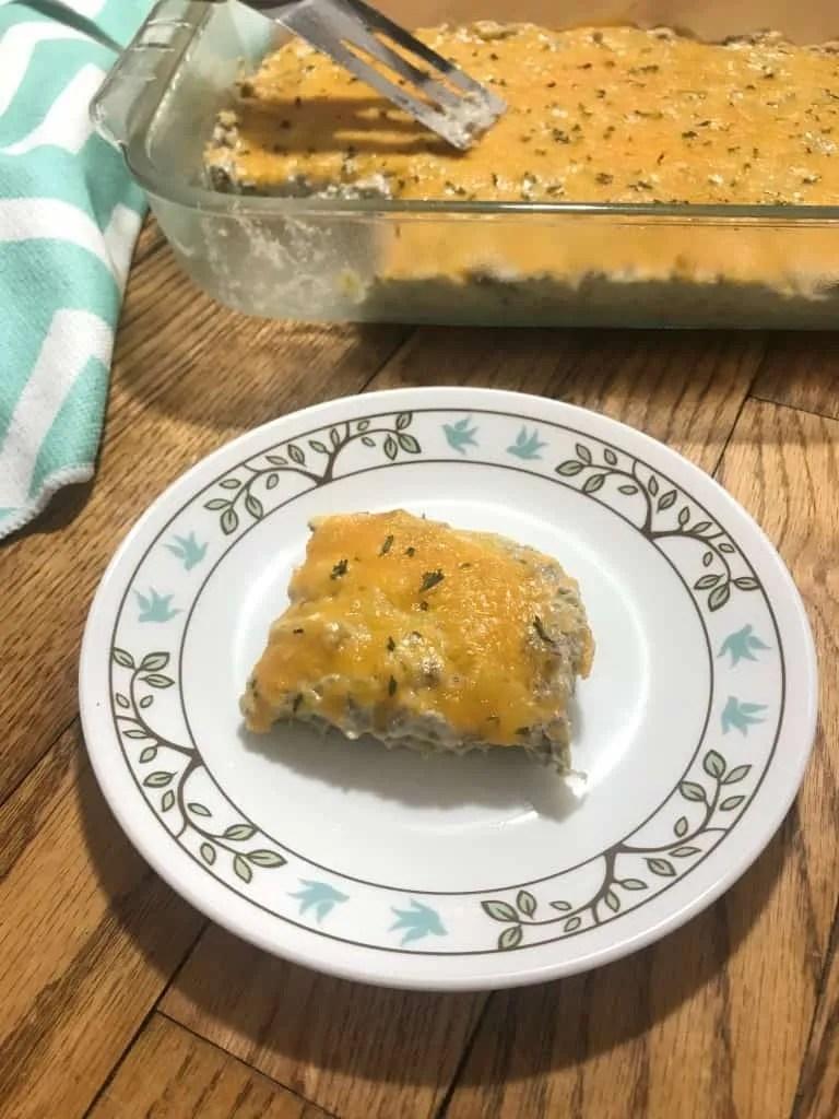 Creamy Beef Artichoke Bake (THM-S, Low Carb)