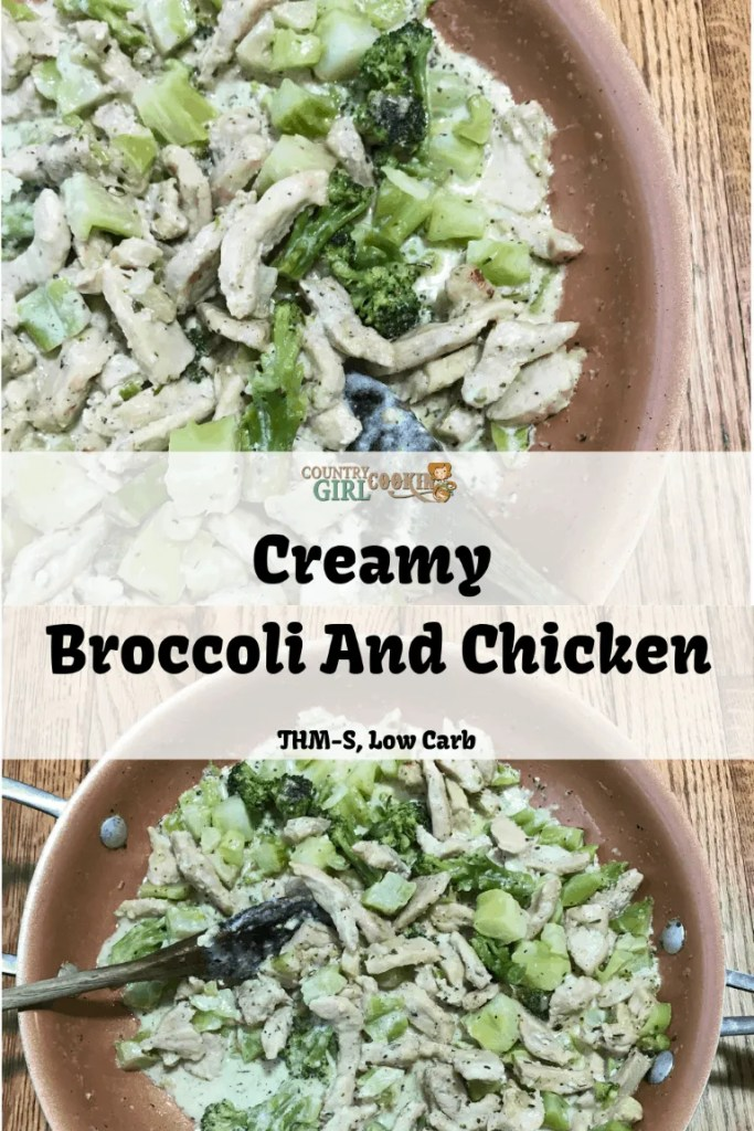 Creamy Broccoli And Chicken (THM-S, Low Carb)