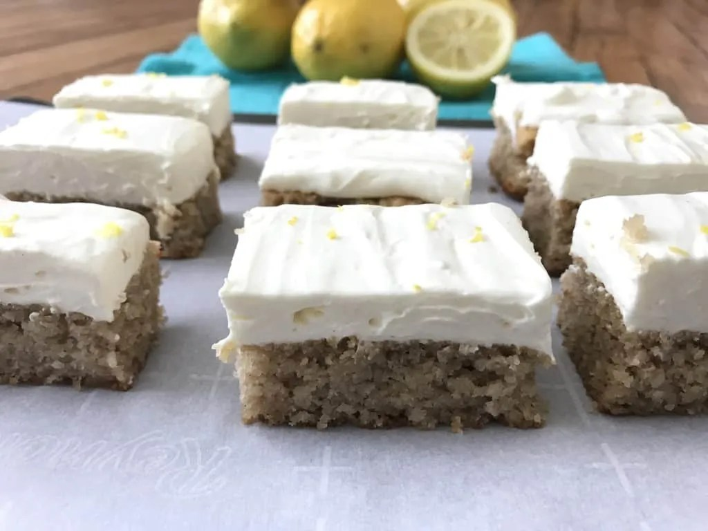 Lemon Bars With Lemon Frosting (THM-S, Sugar Free, Low Carb)