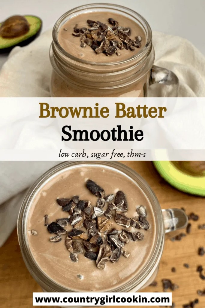 Brownie Batter Smoothie (Low Carb, Sugar Free, THM-S)