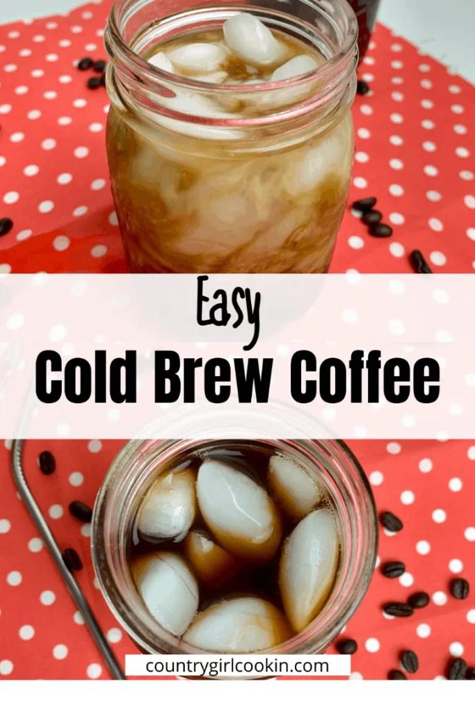 Easy Cold Brew Coffee (Sugar Free)