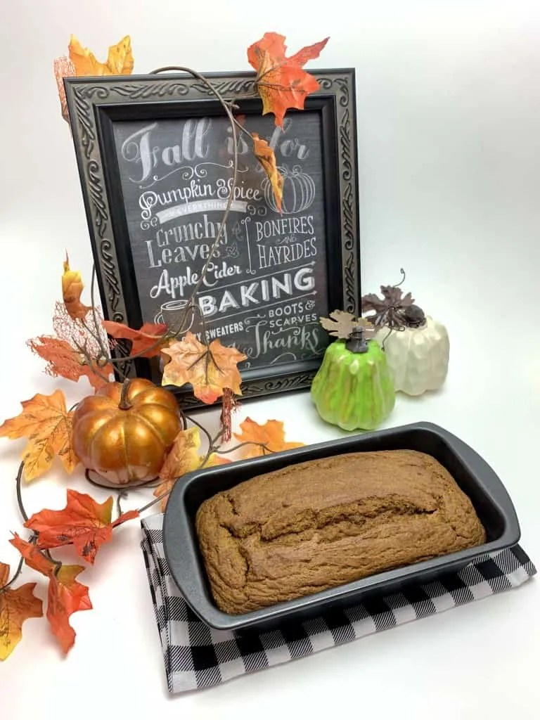 Sprouted Wheat Pumpkin Bread (THM-E, Sugar Free)