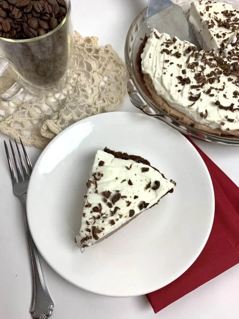 Chocolate Espresso Cream Pie (THM-S, Low Carb, Sugar Free, Gluten Free)