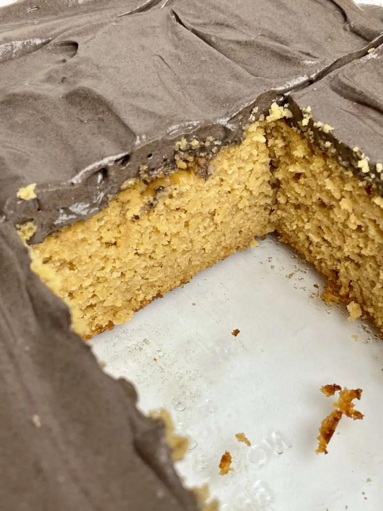Low Carb Peanut Butter Cake (Sugar Free, Gluten Free, THM-S)