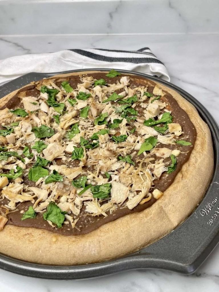 Chicken Taco Pizza (THM-E, Low Fat)