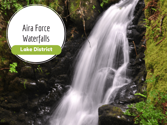 Aira Force, a magnificent waterfall in the Ullswater valley in Lake District