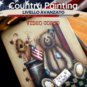 Bee Kind -Video Corso di Country Painting