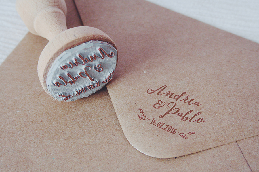 Sello personalizado de boda
