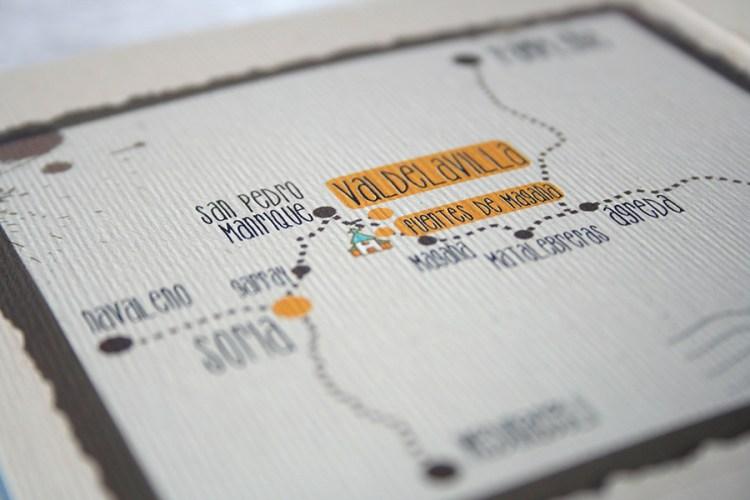 Mapa de boda invitaciones