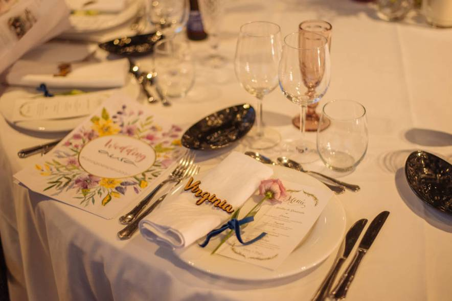 Minutas personalizadas para boda