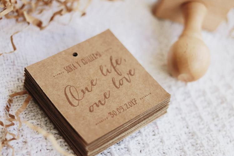 """Sello de boda """"One Love"""""""