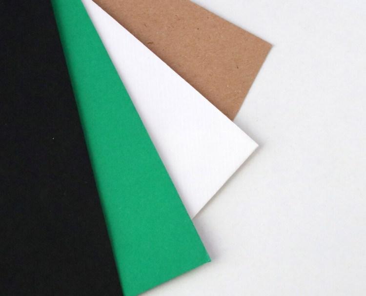 Sobres para bodas y eventos, kraft, blanco, verde y negro