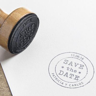 Sello personalizado save the date
