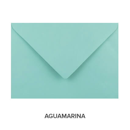 sobres de colores económicos aguamarina