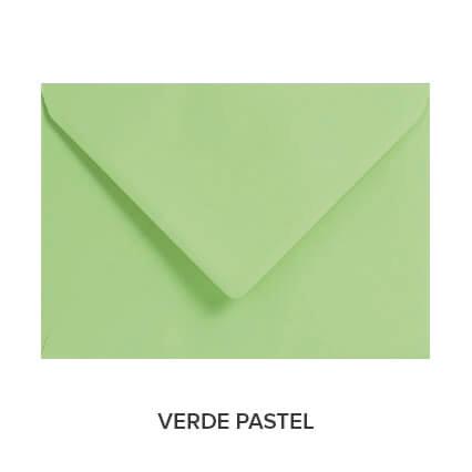 sobres de colores económicos verde pastel