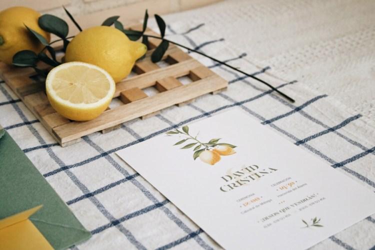 Invitación de boda limonero