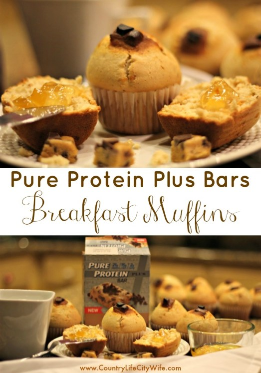 Check out the perfect breakfast for all you busybodies out there - the Pure Protein Plus Bars Breakfast Muffin. Easy to take with you and good for you, too. Printable recipe card.