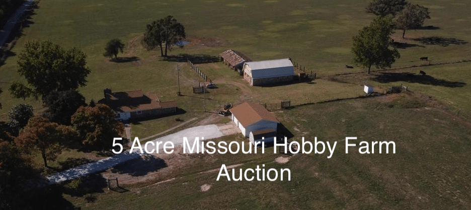 Under $100k Sunday – c.1933 Hobby Farm on 5 Acres Neosho MO – Auction Start Bid $90,000