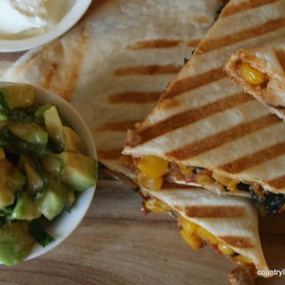 {Recipe} Chicken and Corn Quesadillas