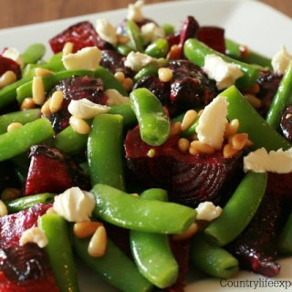 {Recipe} Roast Beetroot And Sugar Snap Pea Salad