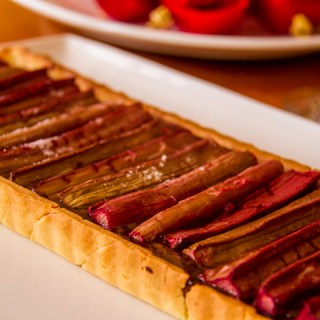 Rhubarb Chocolate Tart