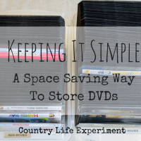 Keeping It Simple   A Space Saving Way To Store DVDs