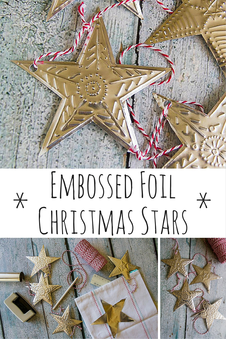 Embossed Foil Christmas Decorations