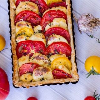 Roasted Tomato And Mozzarella Tart