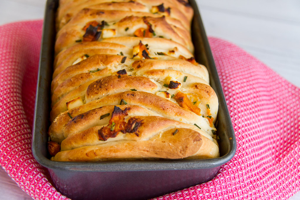 Pumpkin And Feta Pull Apart Bread