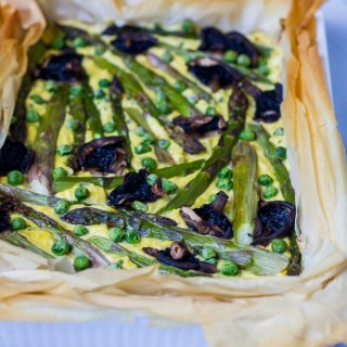 Spring Vegetable And Ricotta Tart