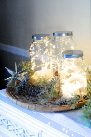 Our favourite country staple gets the holiday treatment in this DIY project: Simply fill a Mason jar with a bunch of string lights, then cluster together on a windowsill or entryway table. Get the tutorial at Making Lemonade. MORE: 50 best ways to use mason jars