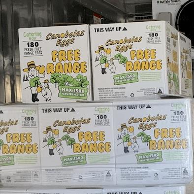Canobolas Free Range Egg Catering Pack - 15 Dozen/ 6 trays of 30