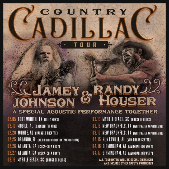 Jamey Johnson and Randy Houser Launch Country Cadillac Tour - Tickets at CountryMusicOnTour.com