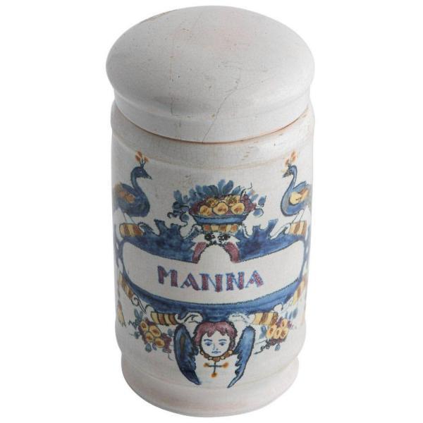 Deft drug jar with lid Front Facing