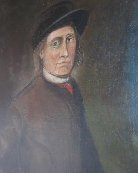 Large oil on canvas portrait England, c. 1800