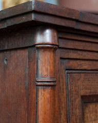 Wall Hanging Cupboard, 18th century Closeup
