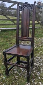 Set of four oak chairs, England 17th century Side View