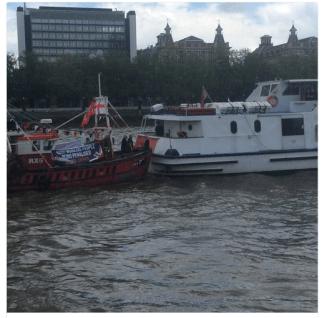 back of boat